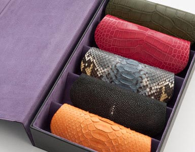 Glasses case Crocodile Python Iguana Shagreen